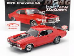 Chevrolet Chevelle SS year 1970 red / black 1:18 GMP