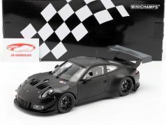 Porsche 911 (991) GT3 R Plain Body Version Baujahr 2018 matt schwarz 1:18 Minichamps