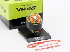 Valentino Rossi World Champion MotoGP 2009 AGV helmet 1:10 Minichamps
