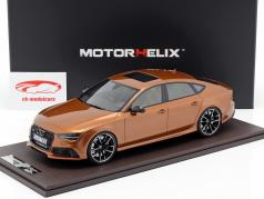 Audi RS7 Sportback Performance year 2016 bronze 1:18 MotorHelix