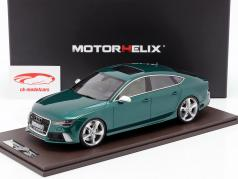 Audi RS7 Sportback Performance year 2016 green 1:18 MotorHelix