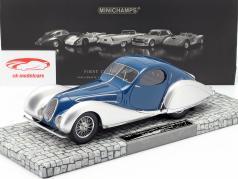 Talbot Lago T 150-C-SS Coupe année 1937 bleu / argent 1:18 Minichamps