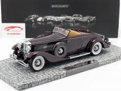 Düsenberg SJN Convertible Coupe Année 1936 pourpre 1:18 Minichamps