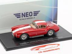 Maserati A6GCS/53 Berlinetta Pininfarina vermelho / branco 1:43 Neo
