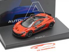 McLaren P1 year 2013 volcano Orange 1:43 AUTOart