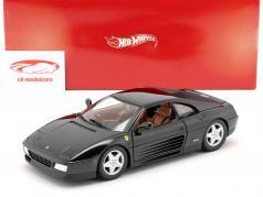 Ferrari 348 TB Année 1989 1:18 noire Fondation HotWheels