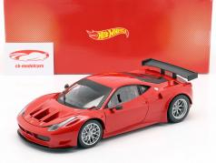 Ferrari 458 Italia GT2 Plain Body Version red 1:18 HotWheels Heritage
