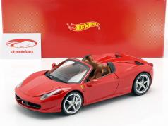 Ferrari 458 Italia Spider Année 2011 rouge 1:18 HotWheels Fondation