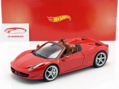 Ferrari 458 Italia Spider Bj. 2011 rojo 1:18 HotWheels Heritage