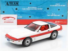 Chevrolet Corvette C4 Baujahr 1984 TV-Serie Das A-Team (1983-87) weiß / rot 1:18 Greenlight