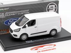 Ford Transit Custom V362 MCA ano de construção 2018 branco 1:43 Greenlight