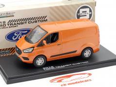 Ford Transit Custom V362 MCA Sport ano de construção 2018 laranja metálico 1:43 Greenlight