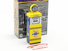 bomba de gás Super Chevrolet Service amarelo / azul 1:18 Greenlight