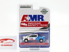 Chevrolet Silverado AMR Safety Team Indycar Series 2019 branco / azul 1:64 Greenlight