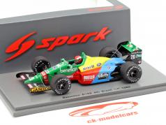 Johnny Herbert Benetton B188 #20 4th Brasilien GP Formel 1989 1:43 Spark