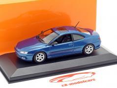 Peugeot 406 Coupe year 1997 blue metallic 1:43 Minichamps