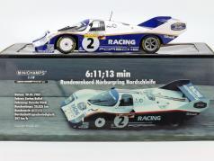 Porsche 956K #2 Rekordrunde 1000km Nürburgring 1983 Bellof, Bell 1:18 Minichamps