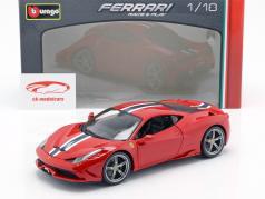 Ferrari 458 Speciale vermelho / Branco / azul 1:18 Bburago