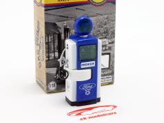 bomba de gás Ford Genuine Parts azul / branco / verde 1:18 Greenlight