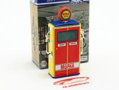 bomba de gás Mopar Parts vermelho / amarelo / azul / verde 1:18 Greenlight