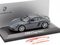 Porsche 718 BOXSTER GTS 982 cabriolet Gris à partir de 2016 1//43 Spark modèle voiture avec ou
