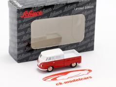 Set Piccolo samlere katalog 1994-2015 med Volkswagen VW T1 dobbelt kabine rød / hvid 1:90 Schuco