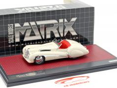 Jaguar SS100 2,5 ltr Roadster Vanden Plas ano de construção 1939 creme branco 1:43 Matrix