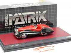 Jaguar SS100 2,5 ltr Roadster Vanden Plas year 1939 red / black 1:43 Matrix