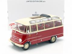 Mercedes-Benz O319 Bus Baujahr 1960 rot / beige 1:18 Norev
