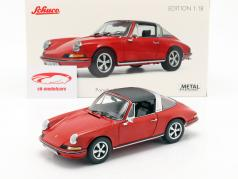 Porsche 911 S Targa ano de construção 1973 vermelho 1:18 Schuco
