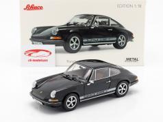Porsche 911 S coupe ano de construção 1973 preto 1:18 Schuco
