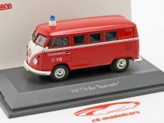 Volkswagen VW T1b バス 消防 赤 1:43 Schuco