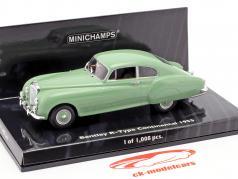 Bentley R-Type Continental Année 1955 vert 1:43 Minichamps