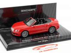 Bentley Continental GTC Speed Baujahr 2012 rot 1:43 Minichamps