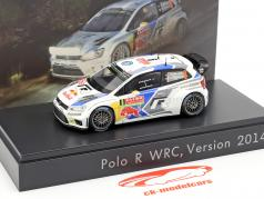 Volkswagen VW Polo R WRC #9 Rallye Monte Carlo 2014 Mikkelsen 1:43 Spark