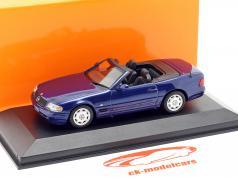 Mercedes-Benz SL Baujahr 1999 blau metallic 1:43 Minichamps