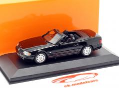 Mercedes-Benz SL year 1999 black 1:43 Minichamps