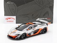 McLaren P1 GTR Concept Car 2015 noir / orange / argent 1:18 Almost Real