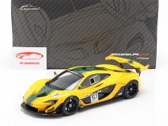 McLaren P1 GTR #51 motor Show Geneva 2015 yellow / black / green 1:18 Almost Real