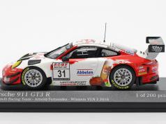 Porsche 911 GT3 R #31 胜利者 VLN 3 Nürburgring 2018 Frikadelli 1:43 Minichamps