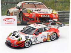 Porsche 911 GT3 R #31 胜利者 VLN 3 Nürburgring 2018 Frikadelli 1:18 Minichamps