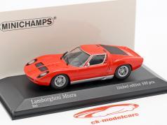 Lamborghini Miura année de construction 1966 rouge 1:43 Minichamps