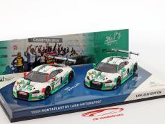 2-Car Set Audi R8 LMS #28 & #29 gagnant GT Masters 2016 1:43 Minichamps