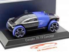 Citroen 19_19 Concept Car Baujahr 2019 blau / schwarz 1:43 Norev