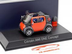 Citroen AMI One Concept Car Auto Salon Genf 2019 orange / carbon 1:43 Norev