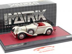 Mercedes-Benz 680S W06 Torpedo Roadster open Top 1928 light gray 1:43 Matrix