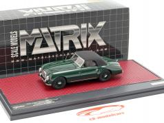 Aston Martin DB2 Vantage DHC Drophead coupe gesloten top 1952 groen 1:43 Matrix