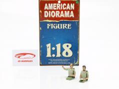 2 Sheriff Figuren Set 1:18 American Diorama