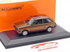 Ford Fiesta ano 1976 marrom 1:43 Minichamps