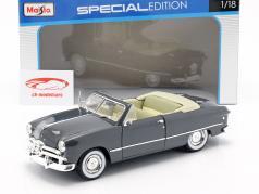 Ford Cabriolet Ano 1949 escuro cinza 1:18 Maisto